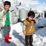یونیسف: سرمای شدید جان ۱۵ کودک آواره سوری را گرفت