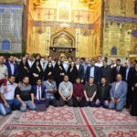 حضور جمعی از کارشناسان میراث فرهنگی دانشگاه های جهان در حرم مطهر علوی