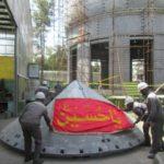 گنبد جدید حرم امام حسین علیه السلام برای انتقال به کربلا آماده میشود