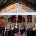 سیاهپوشی حرمها در آستانه شهادت حضرت زهرا علیها سلام